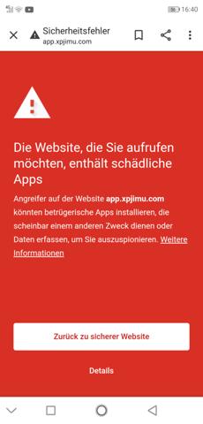 Wie kann ich eine Website öffnen obwohl steht das sie nicht sicher ist?