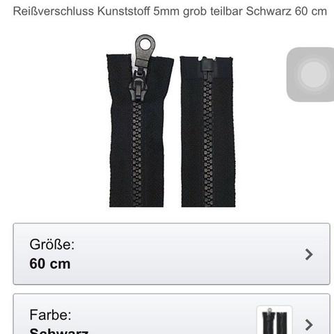 Bild 2 möglicher Reißverschluss 55cm oder 60cm besser? - (Tasche, nähen, Reißverschluß)