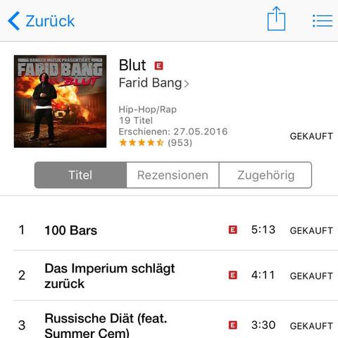 "Album ""Blut"" von Farid Bang - (Musik, iPhone, Apple)"