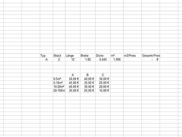 Excel Beispiel - (Excel, Kalkulation, SVERWES)