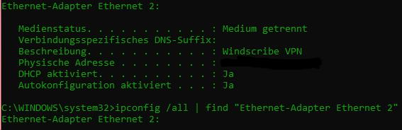 Wie kann ich in Batch eine VPN-Detection einbauen?