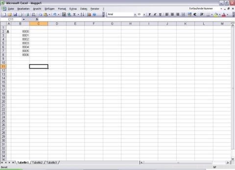 - (Excel, Zahlen, Mandanten Nummern)