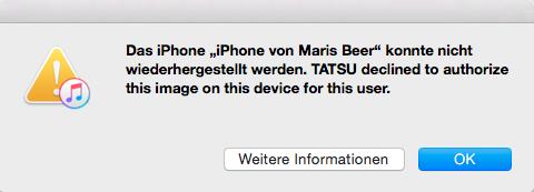 Screenshot - (iTunes, ios, Downgrade)