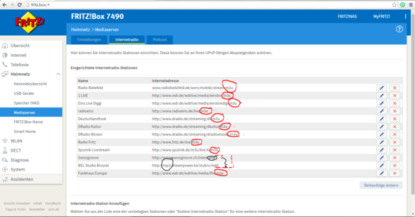 Fritzbox Internetradio Liste