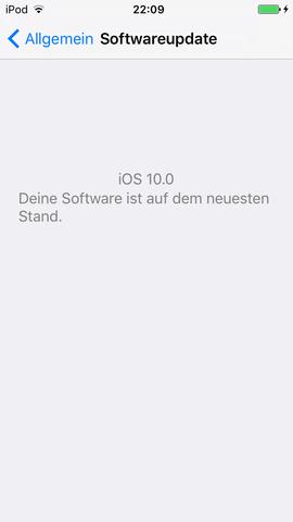 Softwareupdate - (ios, apple ipod)