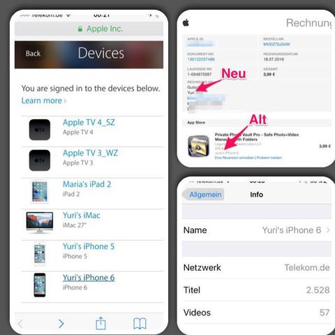 iPhone Name  - (iPhone, Apple, Name)