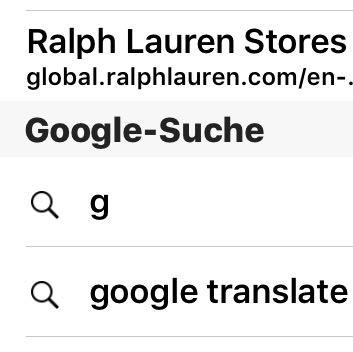 Also ich meine jz zB. Dss google translate... - (Safari, Suchverlauf)
