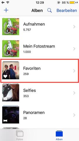Hier vom iPhone die Favoriten..  - (iPhone, Apple, Macbook)