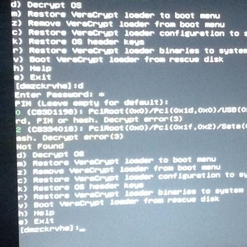 Fehlermeldung in gelb - (Computer, VeraCrypt)