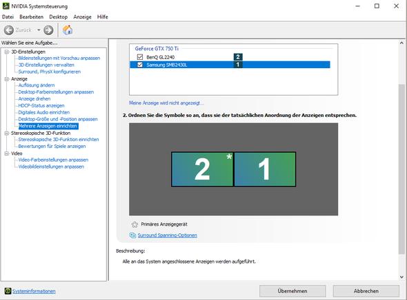 Einstellungen - (Windows, Monitor)