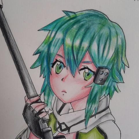 Sinon aus Sao:) - (Manga, verbessern, Manga zeichnen)