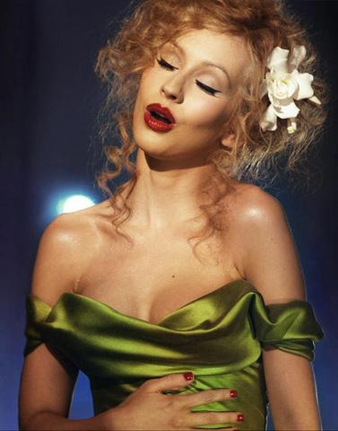 Christina Aguilera in burlesque - (schminken, burlesque)
