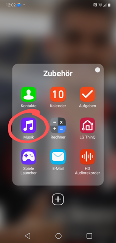 - (Musik, Handy, Android)