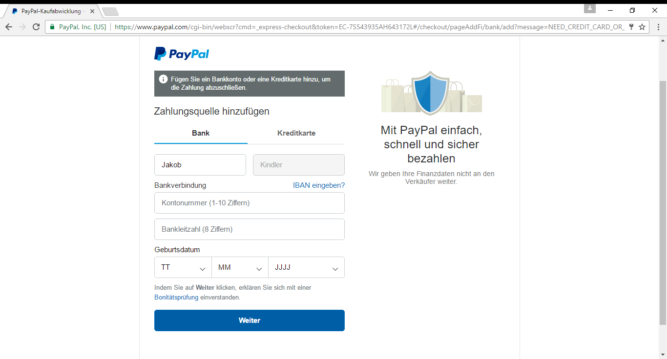 Paypal Accounts Kaufen