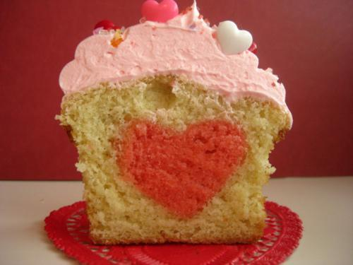 Kuchen-Herz - (lecker, einfach, Muster)