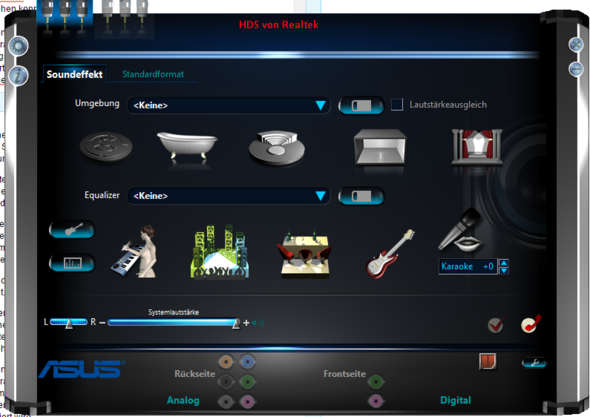 Screen 2 - (PC, Musik, Receiver)