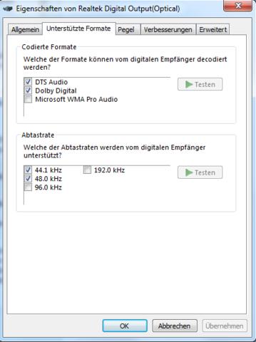 Screen 4 - (PC, Musik, Receiver)