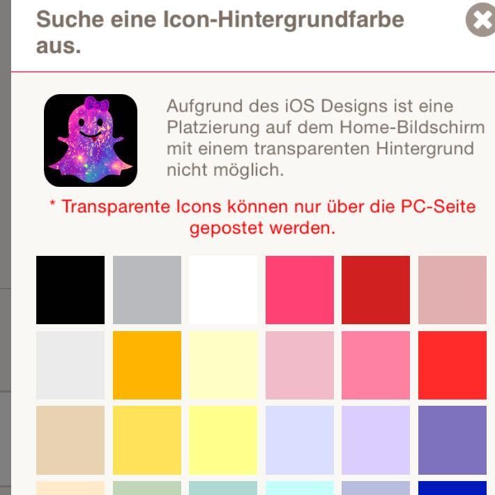 Wie kann ich transparente icons von cocoppa auf mein handy