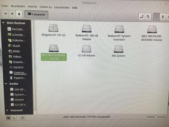 Name der kaputten Festplatte - (Computer, PC, Linux)