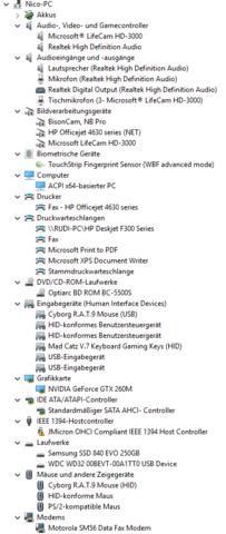 Geräte : - (Software, Hardware, 2 Fernseher)