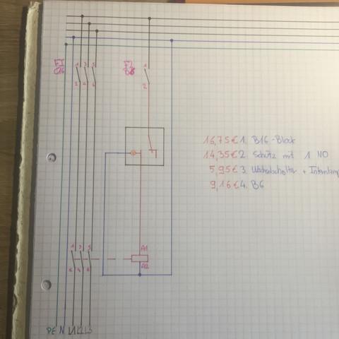 Wie kann man 3 Phasen (L1;L2;L3) mit einem Schalter O/I schalten ...