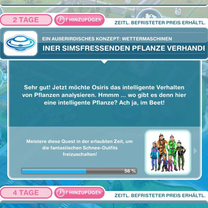 Wie kann man bei Sims FreePlay Pflanze analysieren? (The