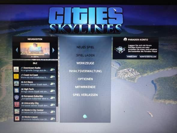 Wie kann man Cities Skylines zum laufen bringen wenn die ersten Funktionen nicht freigeschaltet sind?