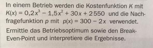 - (Mathe, break-even-point)