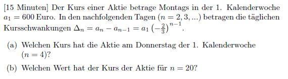 Aufgabve - (Mathematik, Gymnasium)