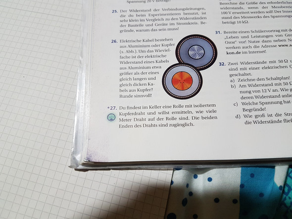 Wie kann man die Länge des Kupferdrahts messen? (Schule, Physik ...