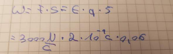Wie kann man diese Aufgabe in den Taschenrechner tippen (physik)?