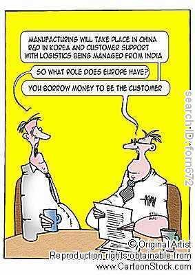 Wirtschaft - (Schule, Wirtschaft, Cartoon)
