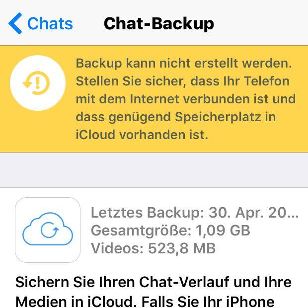 Wie kann man ein Whatsapp Backup beim iPhone abbrechen