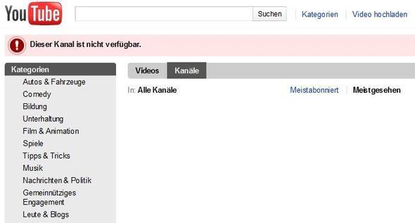 Youtube Kanal Blockieren