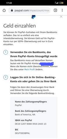 geld aufladen paypal
