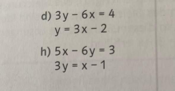 Wie kann man h) mit dem Einsetzungsverfahren lösen?