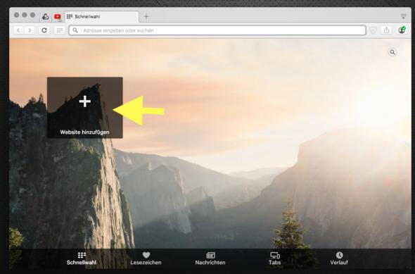 Webseite hinzufügen - (Browser, Opera)