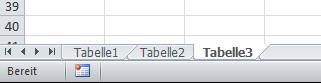 """Sheet"" bzw. ""Tabelle"" - (Excel, Formatierung)"