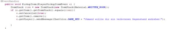 Der Code - (Minecraft, Server, Plugin)