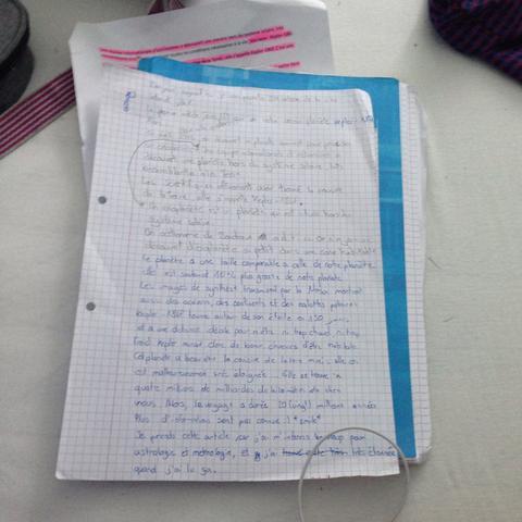 Foto Text, Auswendig Französich   - (lernen, Text, auswendig)