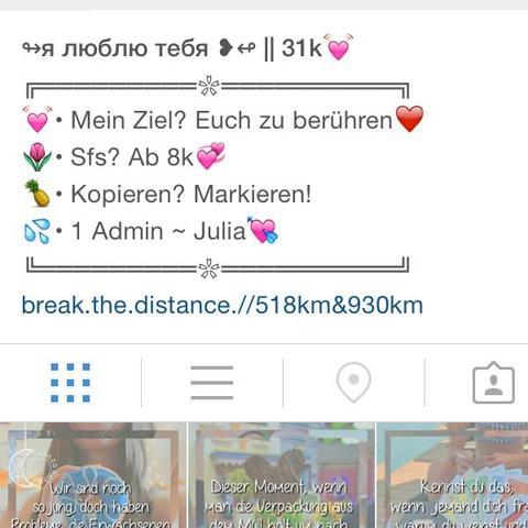 Wie kann man so eine biografie bei instagram machen for Instagram name ideen
