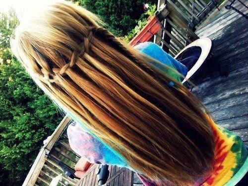 wie kann man so eine frisur machen flechten haare