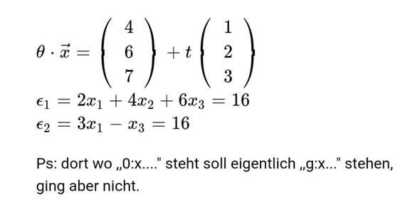 wie kann man SP aus dieser geraden & der Ebenen erzeugen?