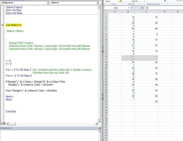 Mein bisheriger Code - (programmieren, Excel, Programmierung)