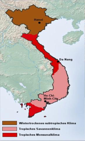 Vietnam - (Erdkunde, Klima, Äquator)
