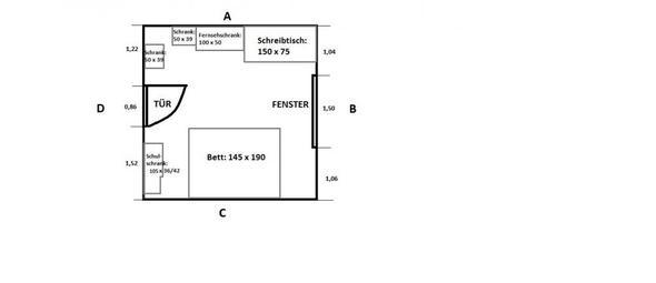 Grundriss meines Zimmers - (Möbel, Zimmer, Schreibtisch)
