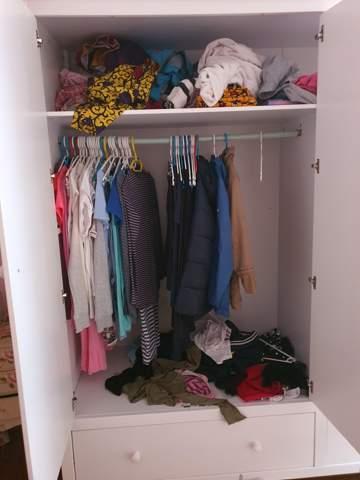Wie könnte ich meinen Kleiderschrank ein räumen?