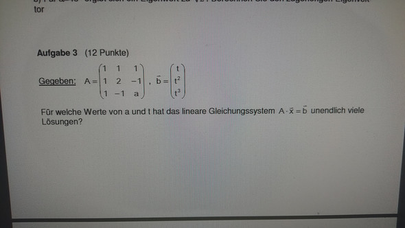Aufgabe - (Mathematik, matrizen)