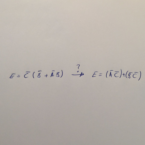 Letzter Schritt unklar  - (Informatik, Digitaltechnik, Boolesche Algebra)