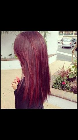 Auf diese Farbe möchte ich kommen  - (Haarfarbe, färben, rot)